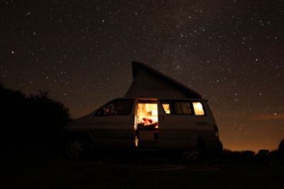 Mazda Bongo at night