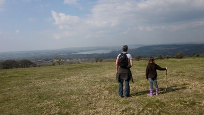 Admiring the view of Chew Magna Lake