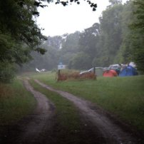 A misty approach to the campsite.