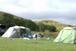View towards White Horse Hill from the campsite