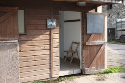 Converted stable block toilets and shower.